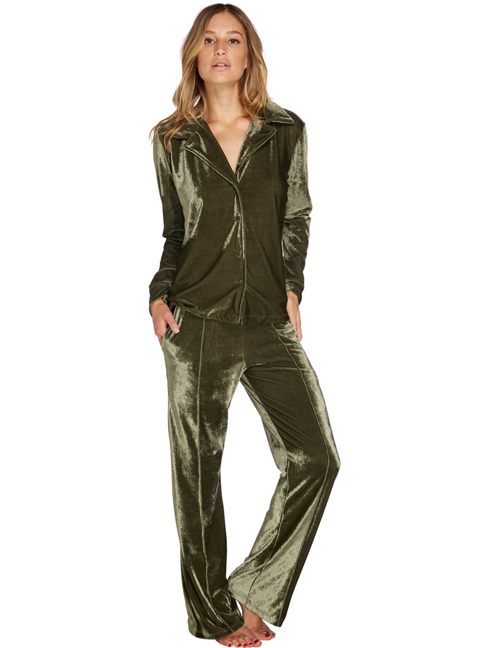 731f125223 Pijama Longo Velvet - Valisere