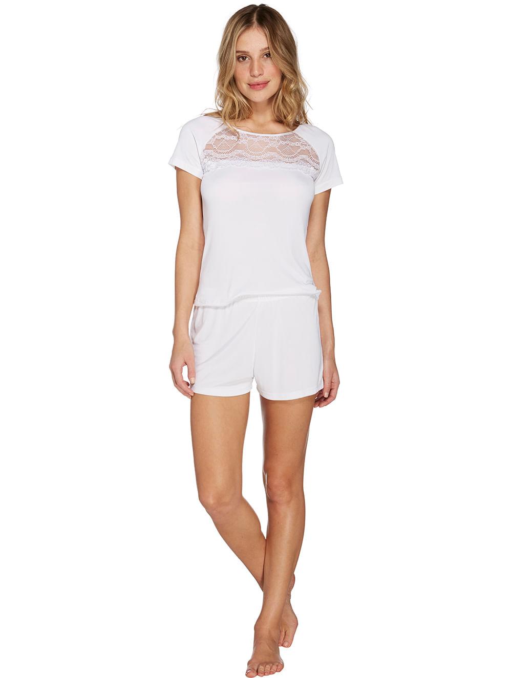 fad3be411 pijama-short-doll-branco-56603 ...
