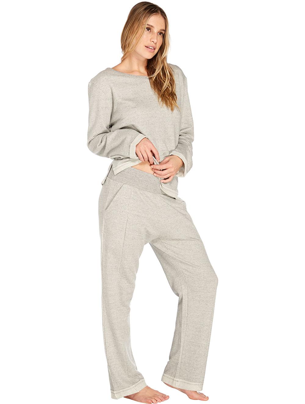 7c44f3c430 Camiseta Manga Longa e Calça Homewear - VALI-V-MOB